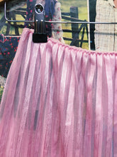 Vintage 1980s Baby Pink Striped Sheer Lace Petticoat
