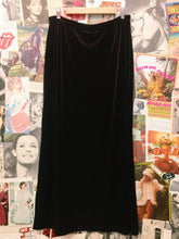 Vintage Brown Velvet Maxi Skirt