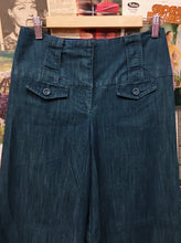 High Waist Super Wide Leg Flared Jeans w/ Thick Band & Belt Loops