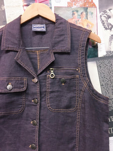 Vintage Traders Mauve Button Up Vest