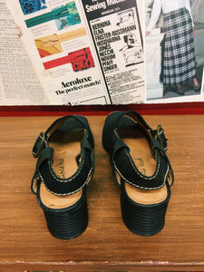 Leather & Elastic Sandals