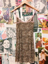 Wild Thing Leopard Print Sheer Slip w/ Rose & White Lace