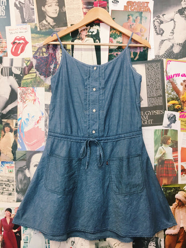 Levi's Denim Drawstring Babydoll Dress