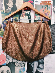 Festival Royale Gold Sequin Skirt