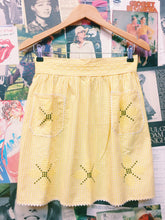 Yellow Gingham Embroidered Apron