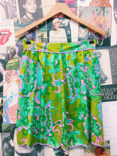 Psychedelic 70's Print Apron