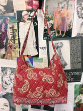Persia Red Boho Paisley Quilted Handbag