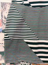 Designer Maurie and Eve Platinum Striped Bustier Tube Dress