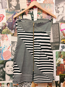 Striped Bustier Tube Dress