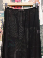 Designer Alannah Hill Sheer Brown Skirt w/ Frill & Floral Embroidery