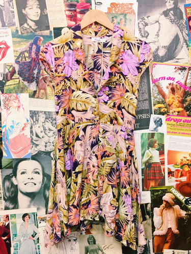 Floral Button-up Collared Hawaiian Dress
