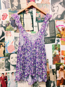 Lazy Days Purple Floral Overall Playsuit