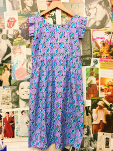 Retro 60's Flower Power Print Dress