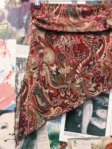 Paisley Asymmetrical Tube Top