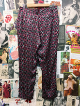 Luxury Designer Laura Ashley 100% Printed Silk Floral Rose Harem Pants