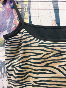 1990's Tiger Animal Print Swim Cami