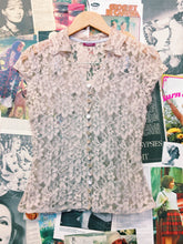 Romantic Beige Lace Blouse