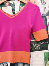 Clueless Hot Pink & Orange Knitted Crop Top