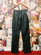 90's Sky High Waist Leather Pants