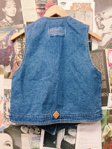 Vintage 80's Western Embroidered Denim Vest