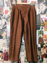 Metallic Bronze High Waist Slacks