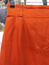 Vintage Artisan High Waist Orange Skirt