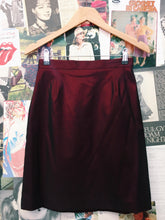 Vintage Harts Red Metallic High Waist Pencil Skirt