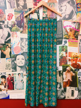 Vintage Flower Power Neon Maxi Skirt
