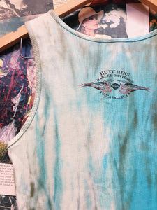 Harley Davidson Tattoo Graphic Tie Dye Ribbed Tank Top
