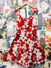 Aloha! Hawaiian Red Skater Dress