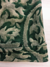 Equipment Forest Green Paisley Mesh Top