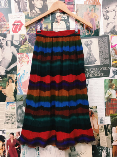 Retro Rainbow Skirt