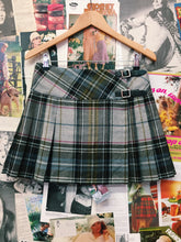 90's Plaid Wrap Skirt w/ Leather Buckles