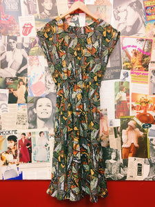 Vintage Autumn Leaves Dress