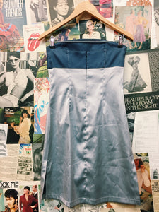 Cooper St Festival Silver Metallic Bustier Tube Dress