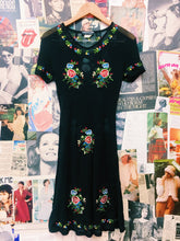 Garden of Eden Embroidered Floral Sheer Festival Dress