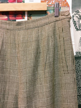 Plaid Brown High Waist Pants