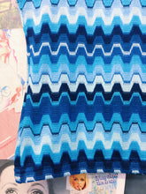 y2k Neon Blue Knitted Striped Top