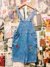 Vintage Jinglers Flower Power & Bug Embroidered Overalls