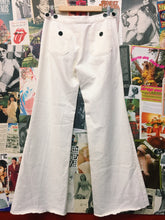 Designer MiH Valencia Sailor Wide Leg Jeans in Winter White