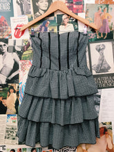 Sweet Gingham Frilled Tube Babydoll Dress