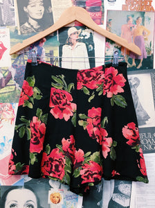Roses Floral Flare Shorts