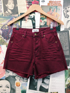 Original Cropped Straight Shorts in Red by Rollas