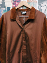 Vintage 1990's Sportscraft Burnt Orange Corduroy Panels Bomber Jacket