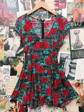 Rusty Rose Tattoo Acid Wash Babydoll Dress