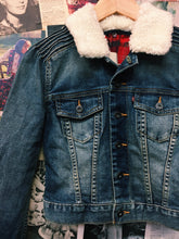 Levi's Sherpa Denim Cropped Jacket w/ Plaid Lining by Levi's Strauss & Co