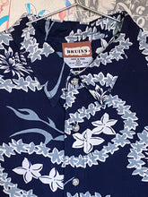 BNWT Bruins Navy Hawaiian Print Pineapple Shirt