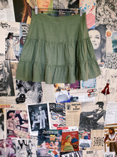 BNWT Army Green Frill Tiered Swing Skirt