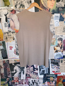 Esprit Tan Jersey Cotton Tank
