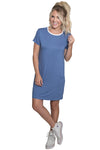 Periwinkle Tee Shirt Dress